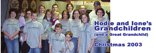 Hodies and Ione's Grandchildren - Grandgeorge Christmas 2003 - Okoboji, Iowa